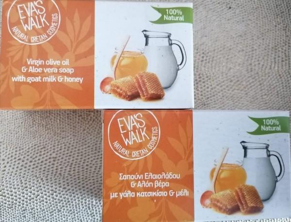 Eva's Walk Bio-Seife mit Ziegenmilch & Honig