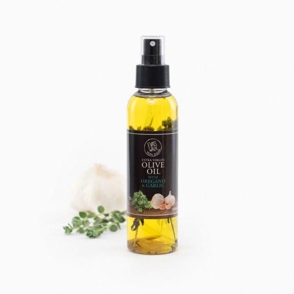 Eva's Walk Bio-Olivenöl mit Knoblauch & Oregano, 250 ml, in der Glasflasche