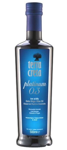 Platinum 0,3 Extra Natives Olivenöl, 500 ml, in einer Glasflasche