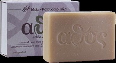 Athos Handgemachte Seife mit Honig & Ziegenmilch