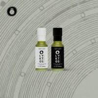 Lyktos Extra Natives Olivenöl 100ml Dorica Glasflasche Black