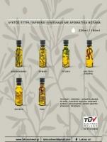 Lyktos Extra Natives Olivenöl mit Kräutern 100 ml Dorica Glasflasche