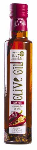 Aromatisches Olivenöl mit Chili, 250 ml