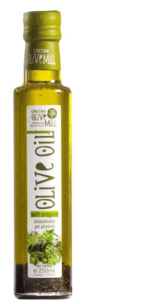 Aromatisches Olivenöl mit Oregano 250ml