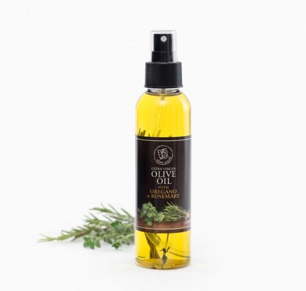 Eva's Walk Bio-Olivenöl mit Rosmarin & Oregano, 150 ml, in der PET-Spray-Flasche