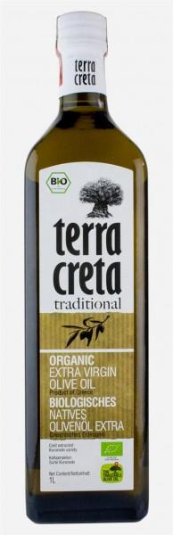 Terra Creta Extra Natives Olivenöl 500 ml Marasca Glasflasche