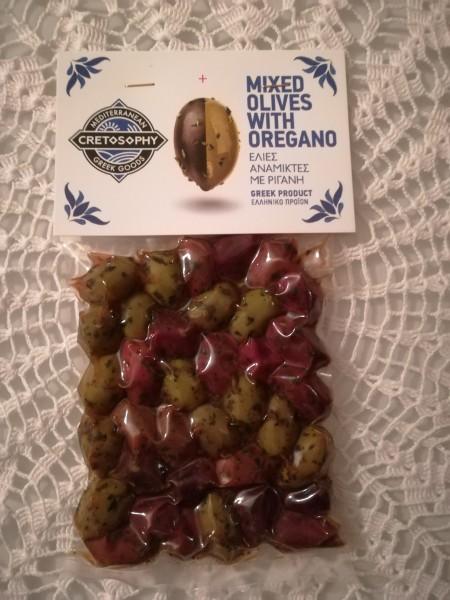 Cretosophy Oliven Mix Grün & Kalamon mit Oregano