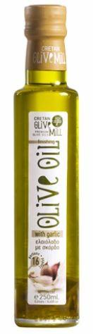 Aromatisches Olivenöl mit Knoblauch, 250 ml